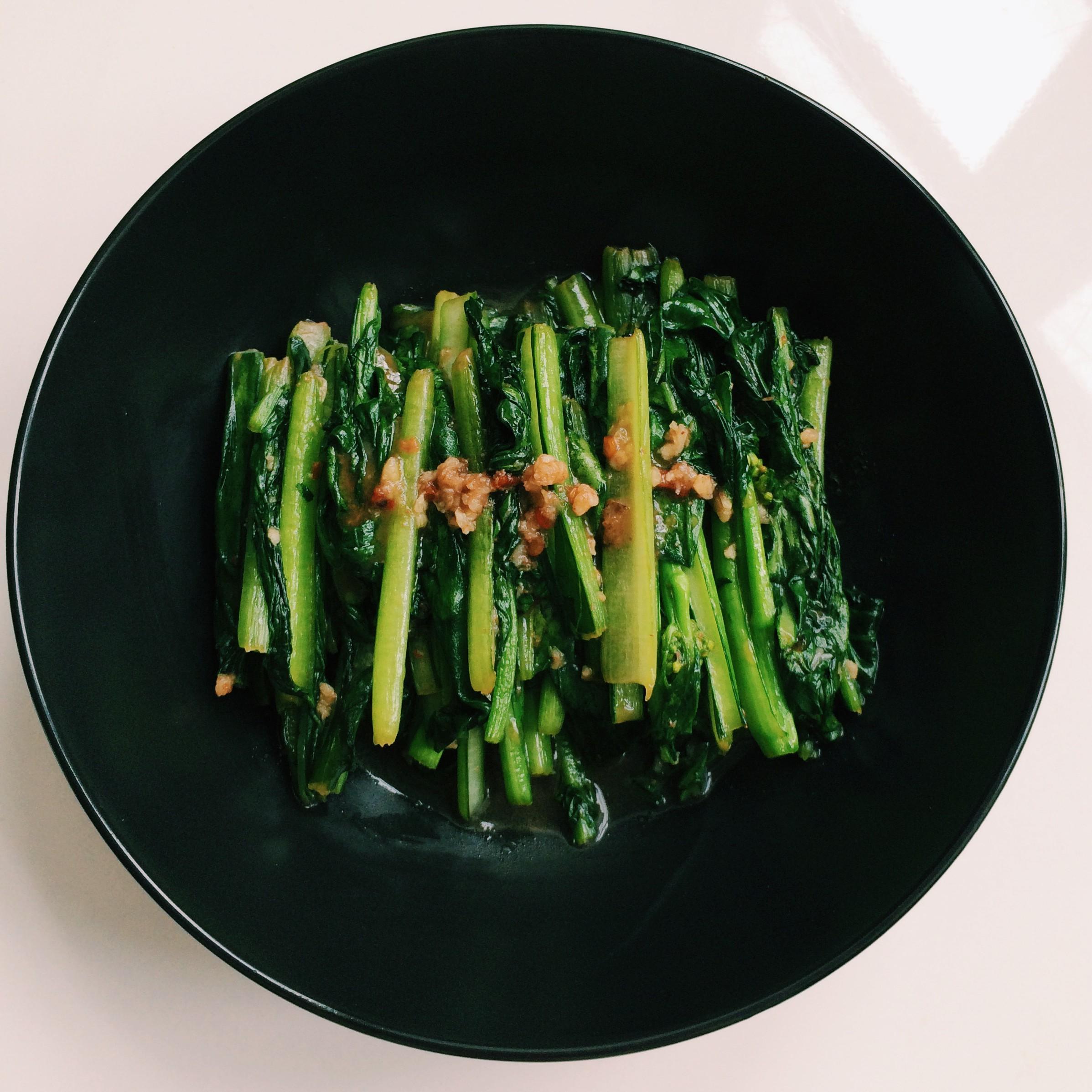 chinese gewokte groenten choi sum