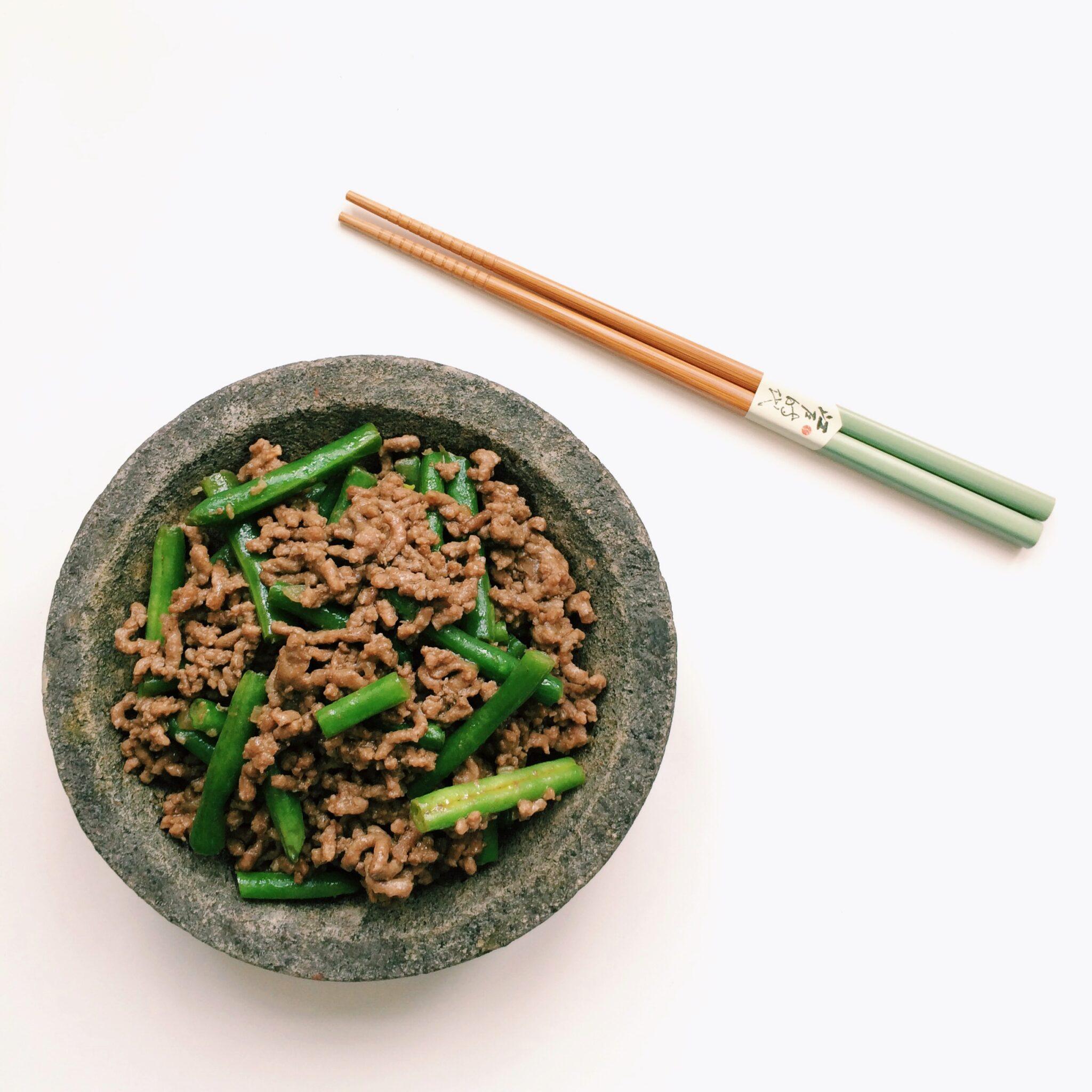 IMG 9629 - Chinees gehakt met sperziebonen