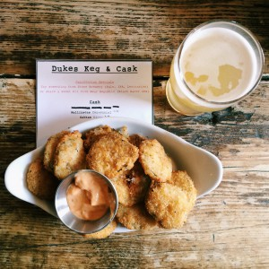 fried pickles dukes brew and que culinessa