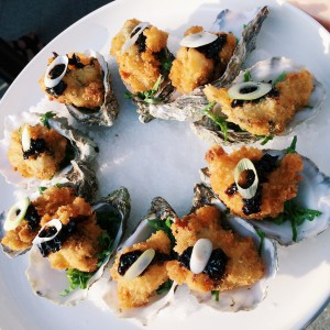 crispy fried oysters