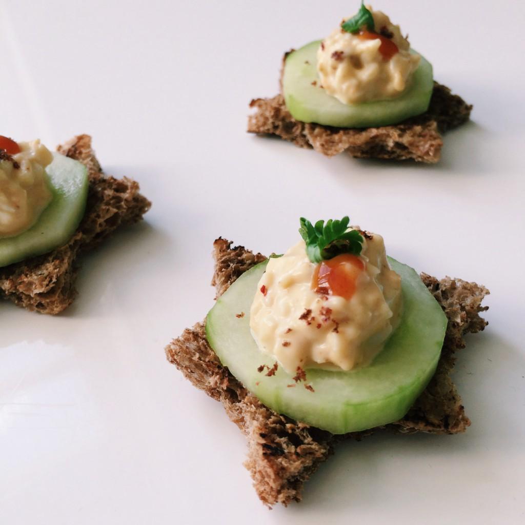 cucumber egg salad snacks
