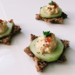 cucumber egg salad snacks
