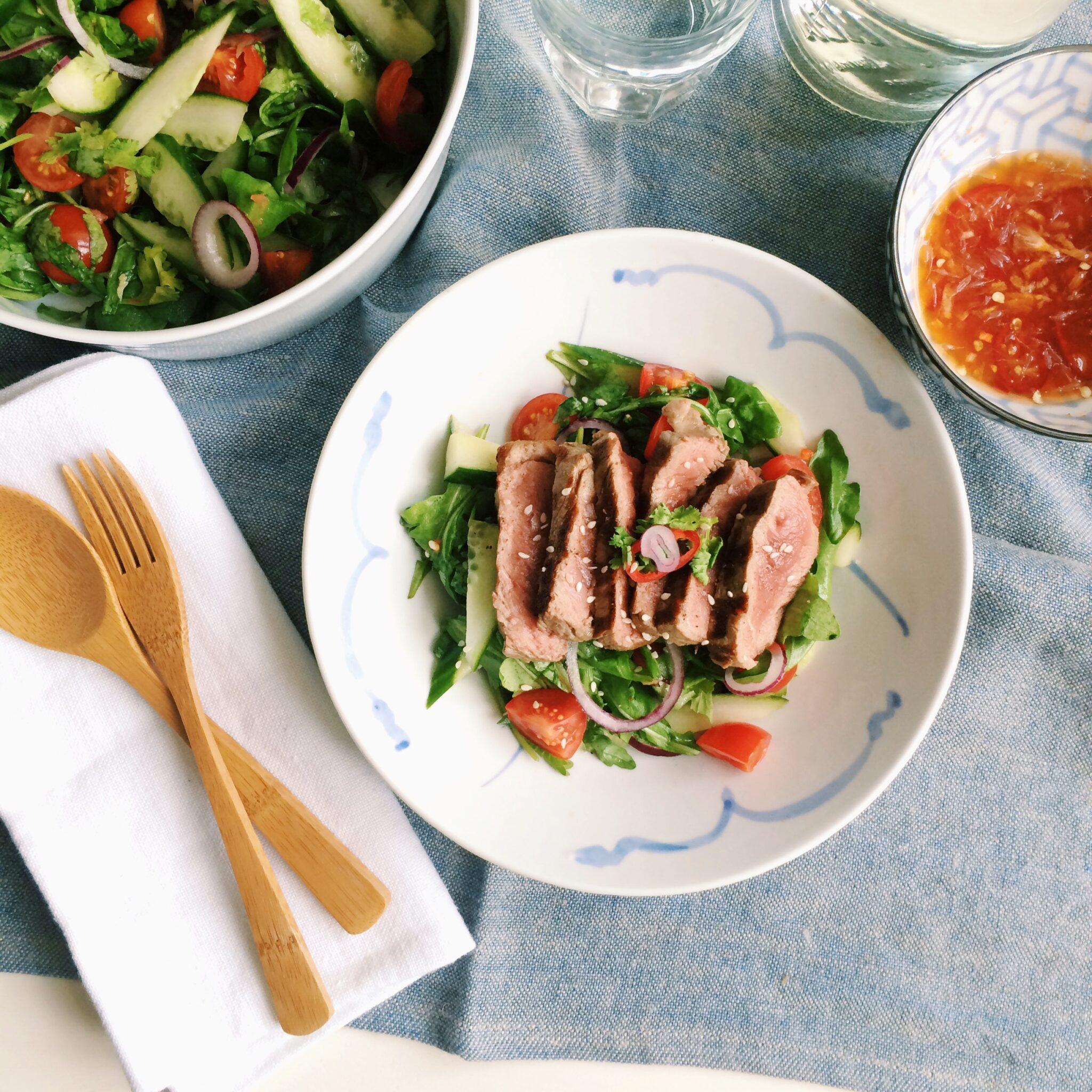 IMG 5847 - Recept Thaise biefstuksalade