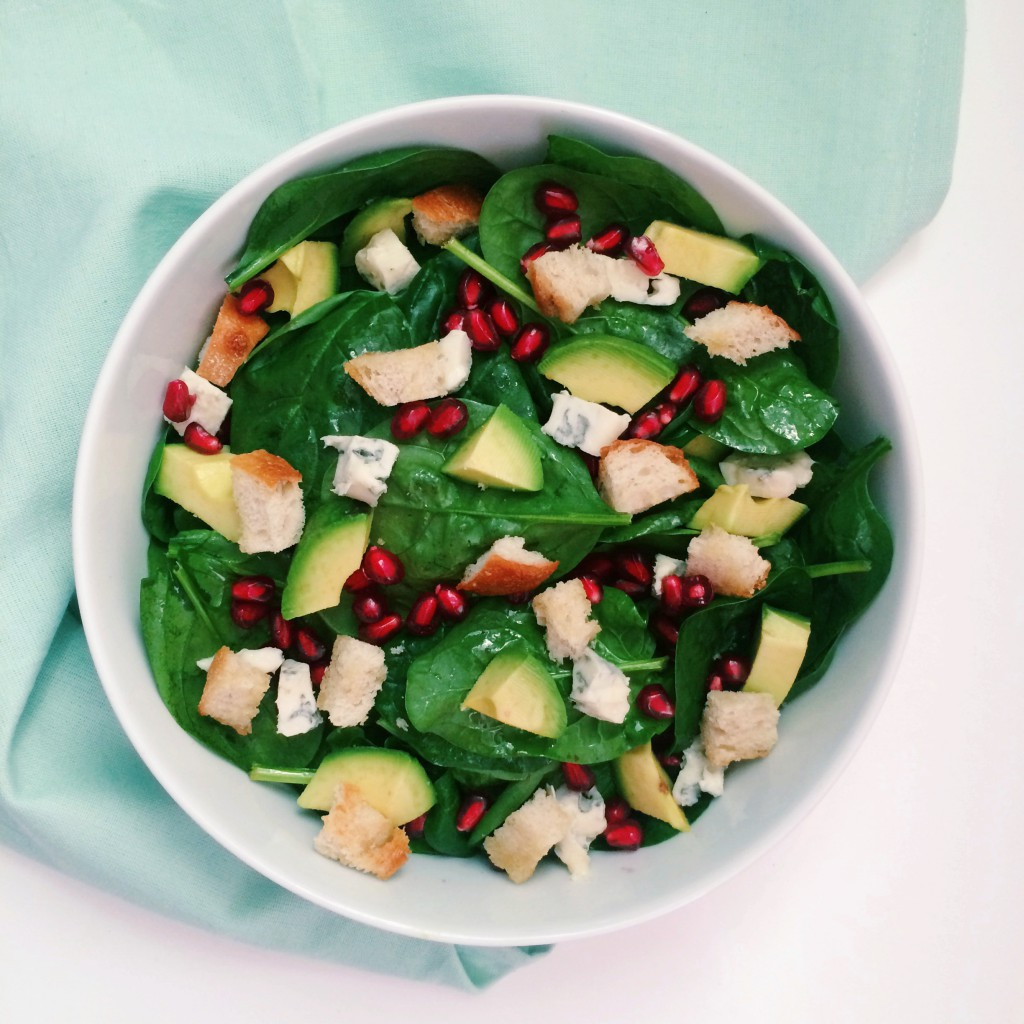 Culinessa healthy spinach salad