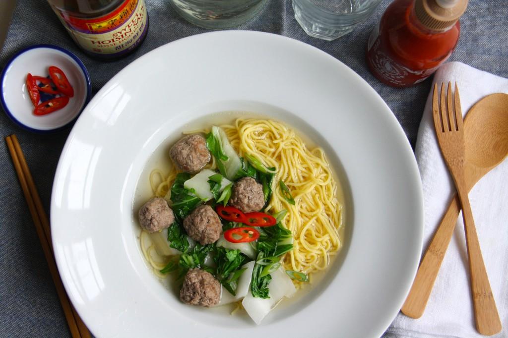 Aziatische Noodle soep