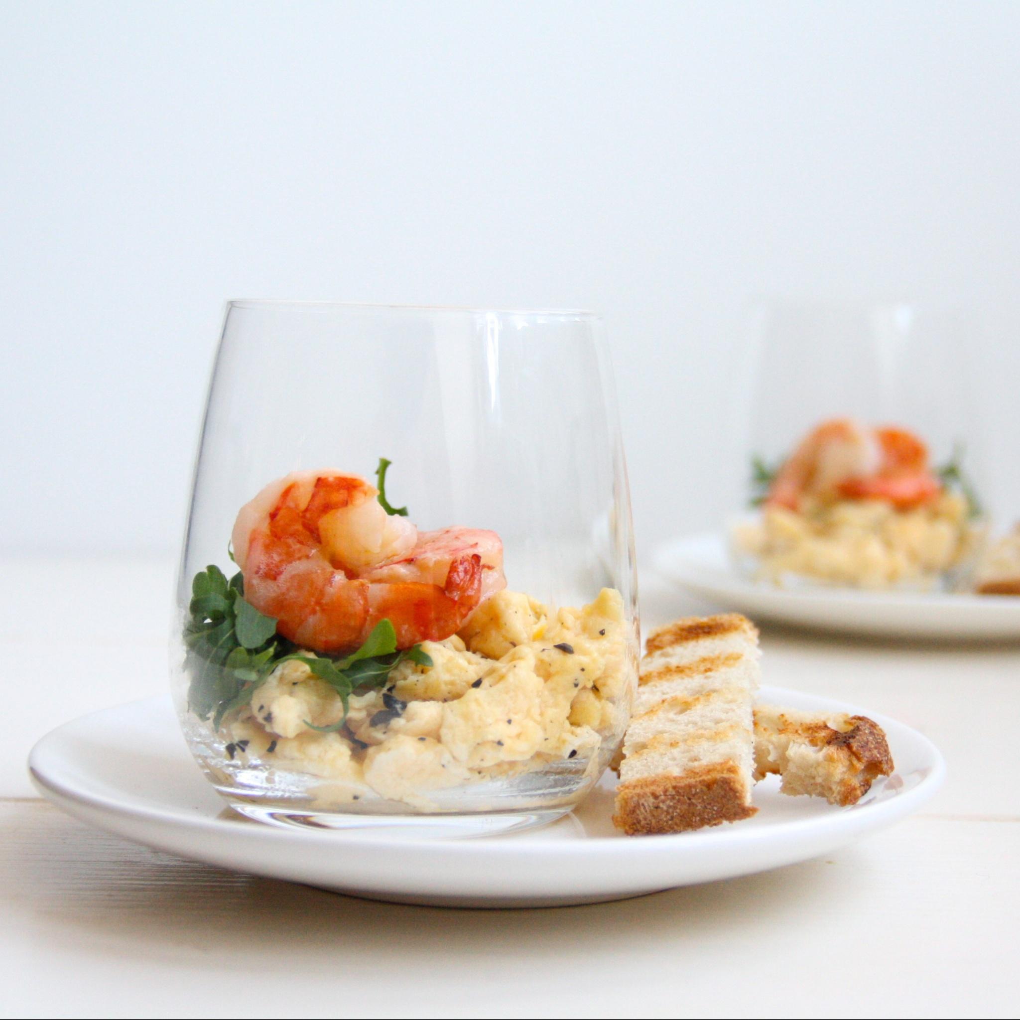 IMG 0709 e1426622389340 - Recept paasbrunch Roerei met truffel en garnalen