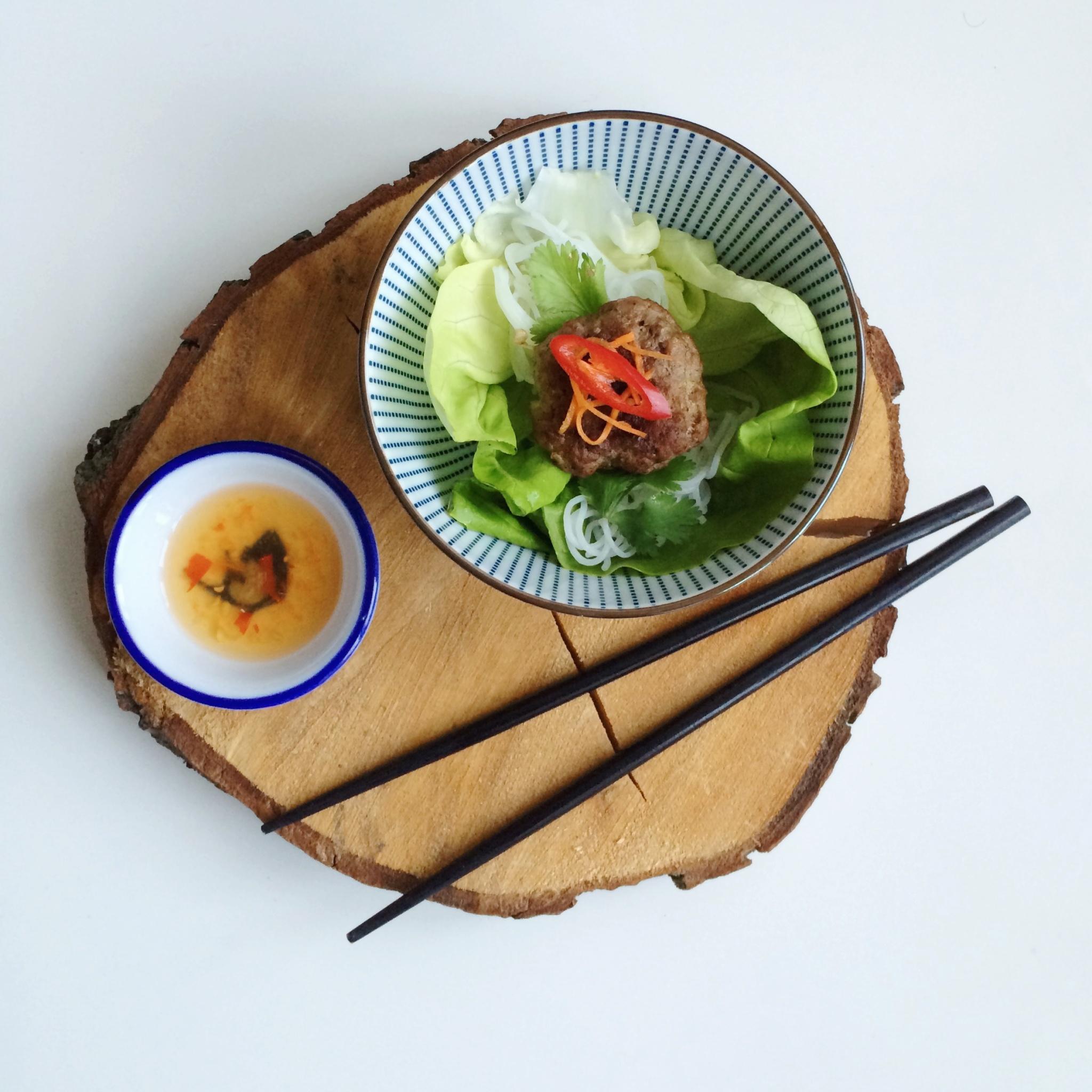IMG 3959 - Frisse Vietnamese salade Bun Cha