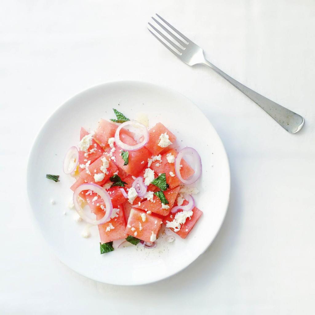 frisse watermeloen salade
