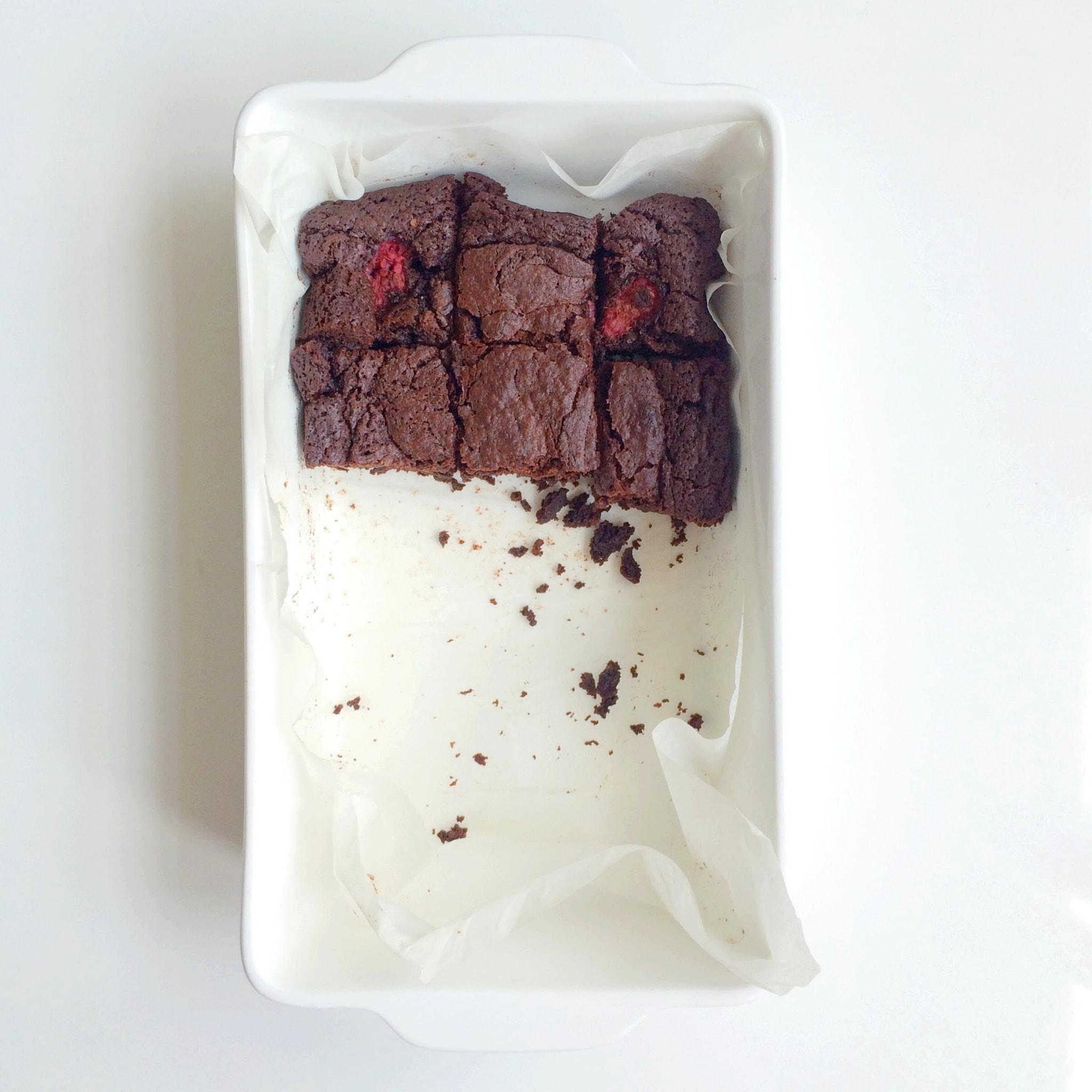 IMG 8923 - Chocolade brownies met frambozen