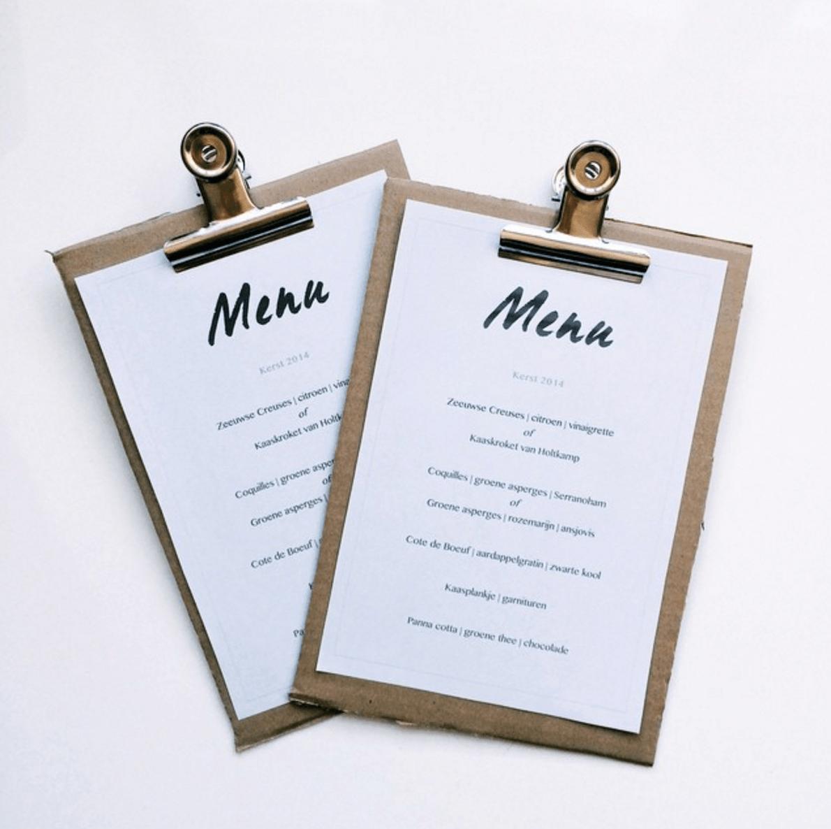 culinessa xmas menu