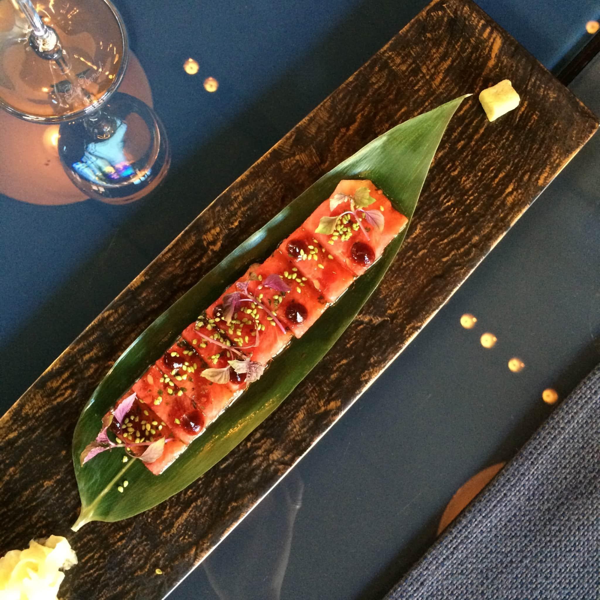 watermeloen sashimi
