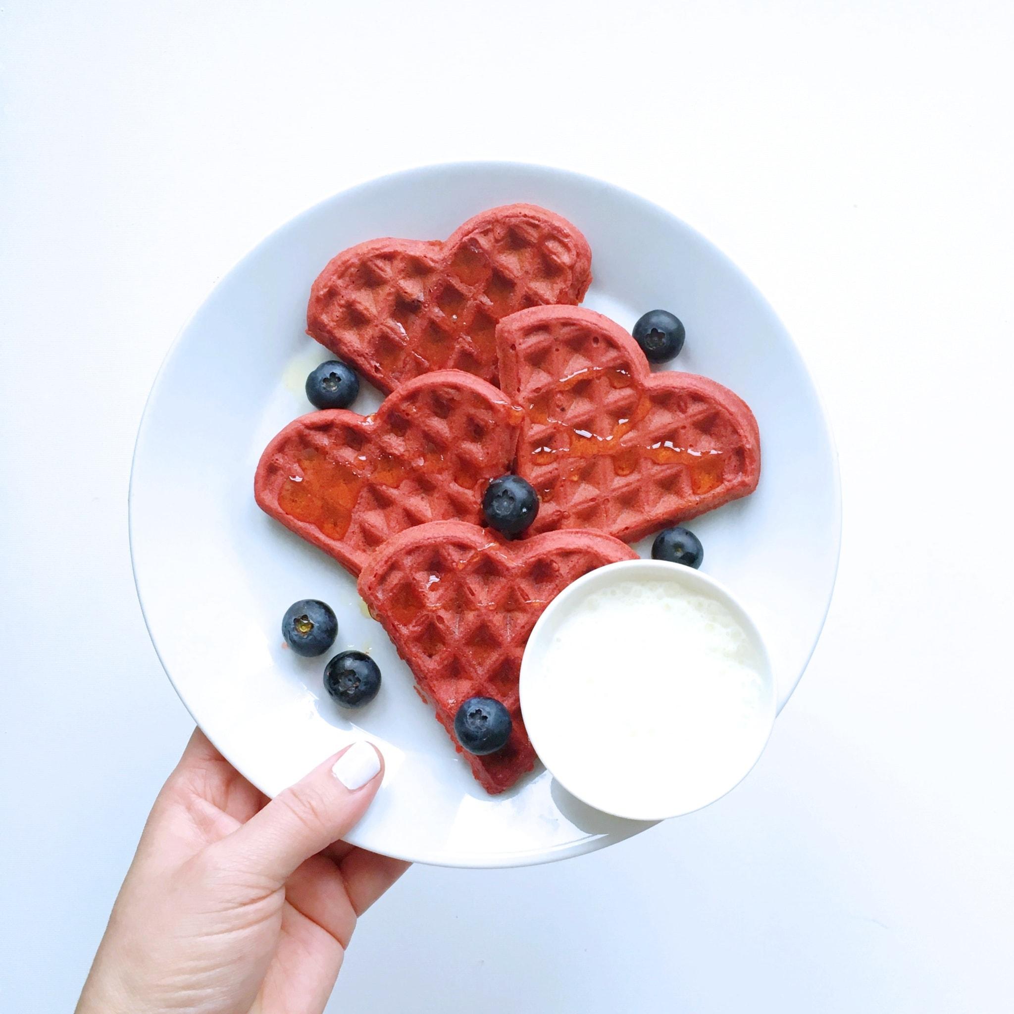 red velvet wafels culinessa - Red Velvet wafels voor Valentijn