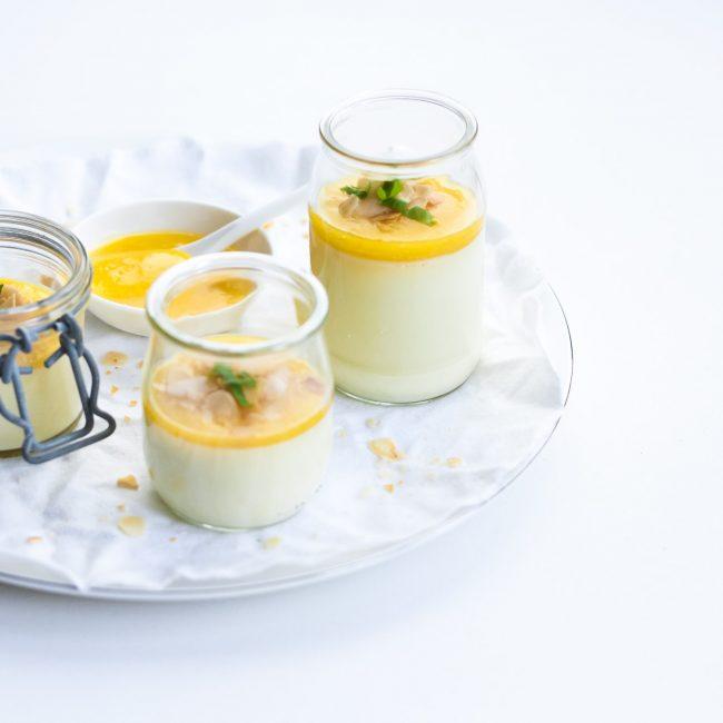 Recept Panna Cotta met perzikkencoulis
