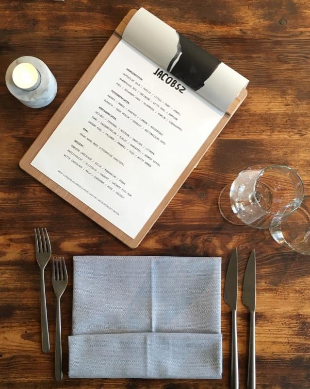 restaurant Jacobsz Amsterdam menu