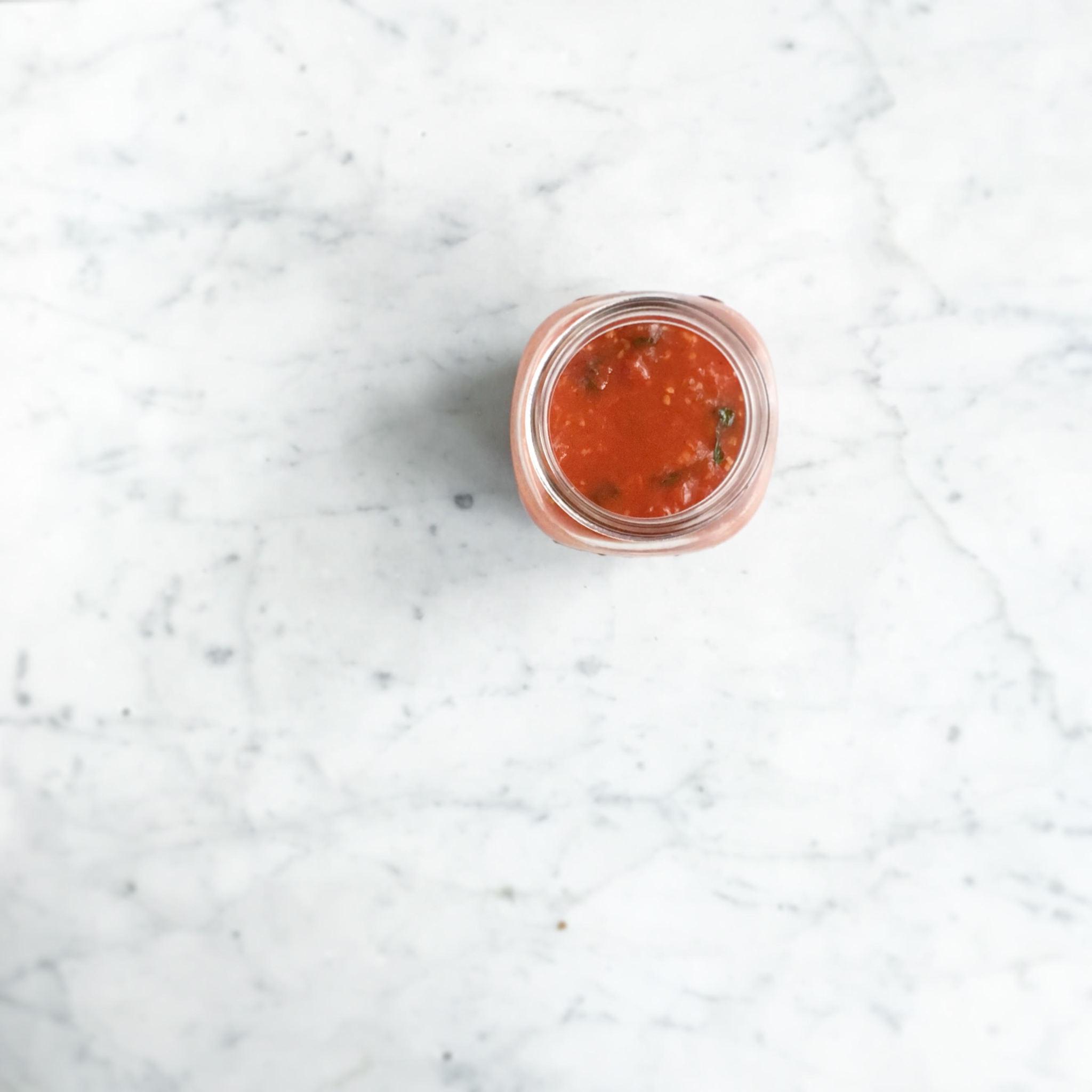 simpele pastasaus van tomaten