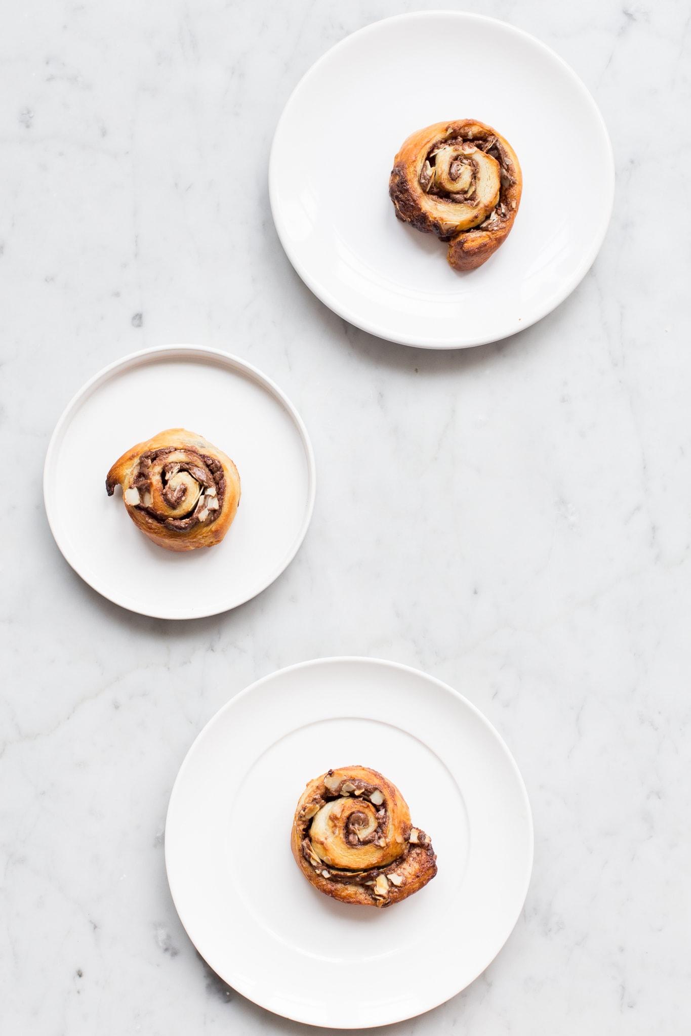 Chocolade hazelnoot spiralen met criossantdeeg