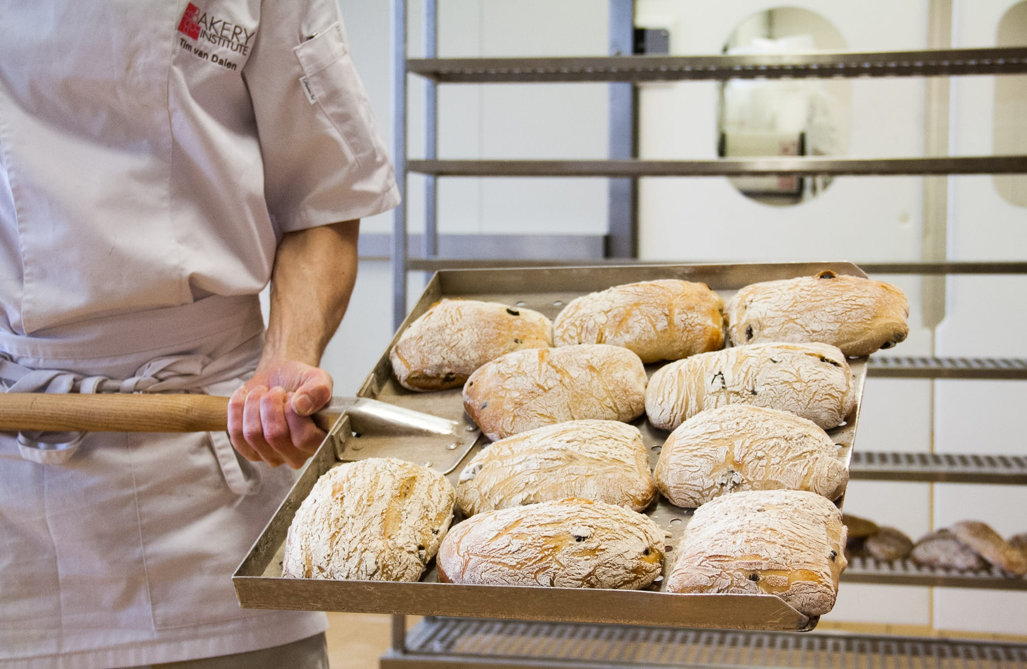 ciabatta tijdens brood bak cursus