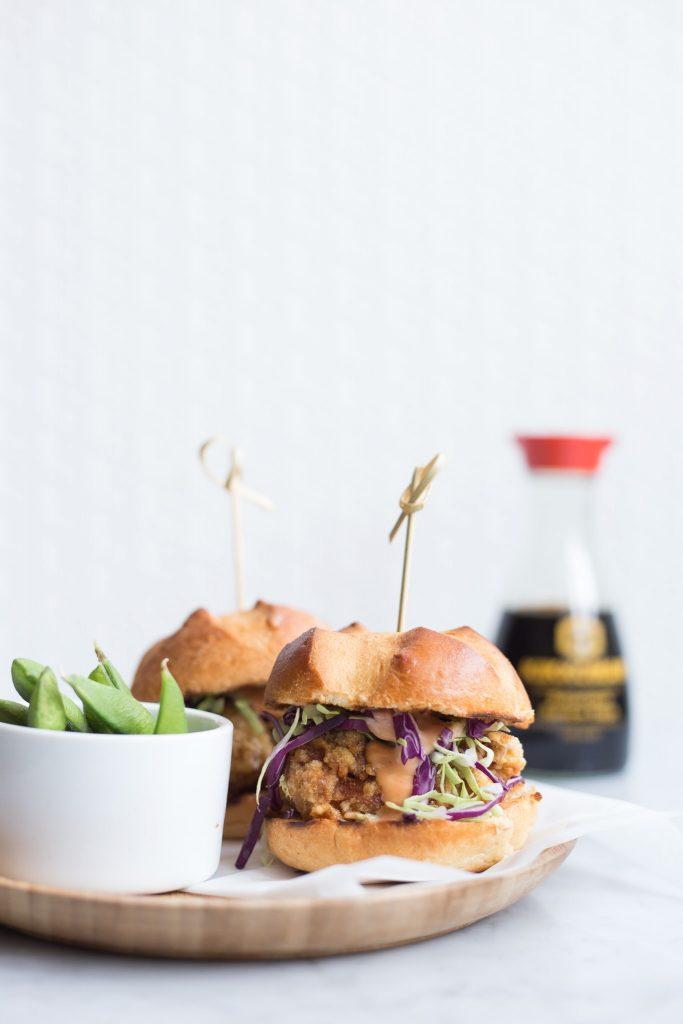Kikkoman karaage burger
