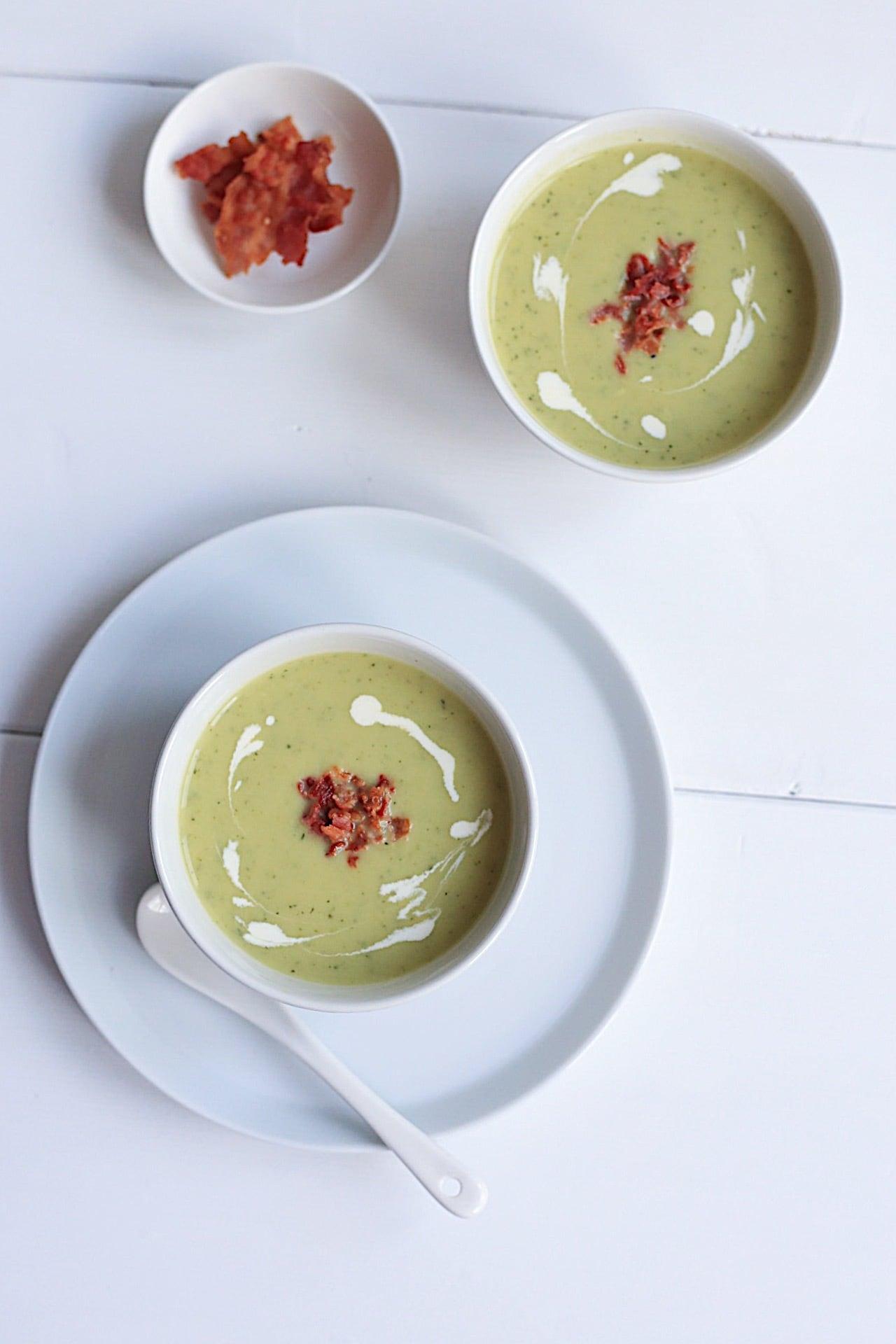 image 13 - Romige courgette soep met bacon