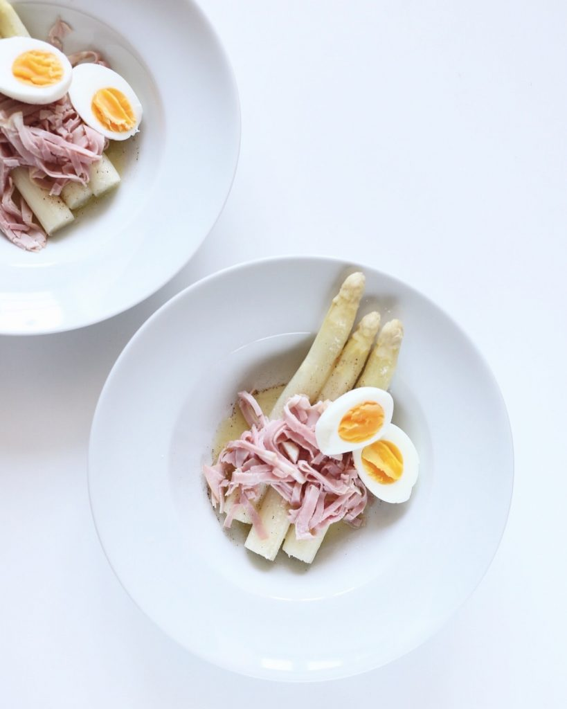witte asperges traditioneel