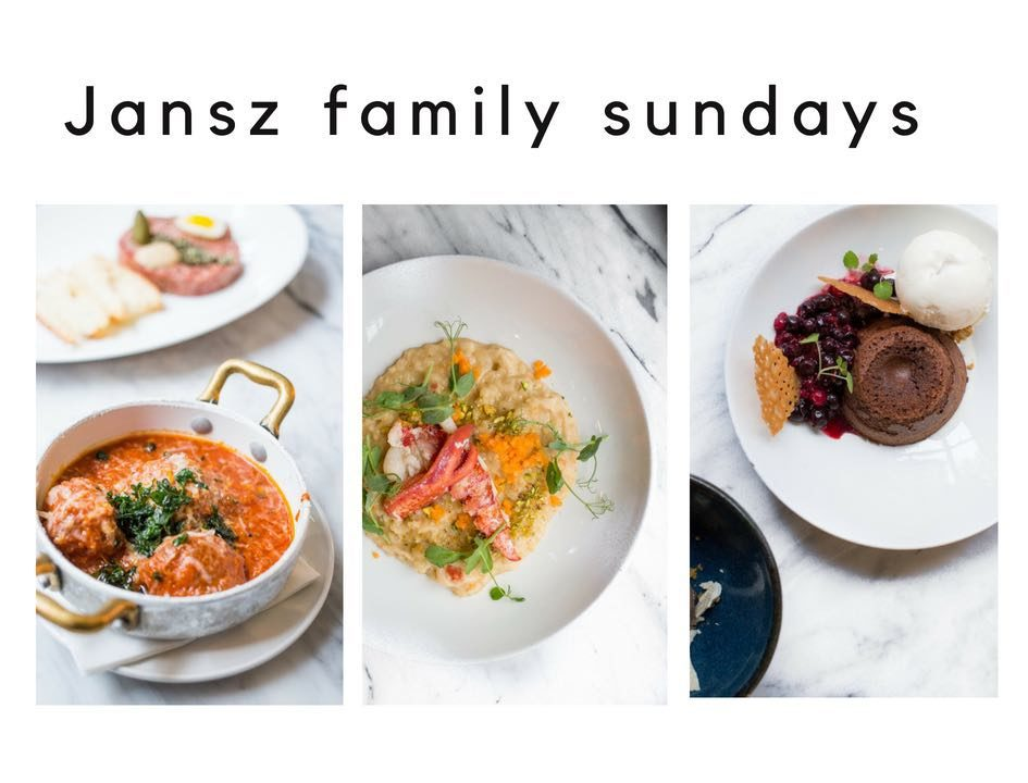 jansz family sundays menu