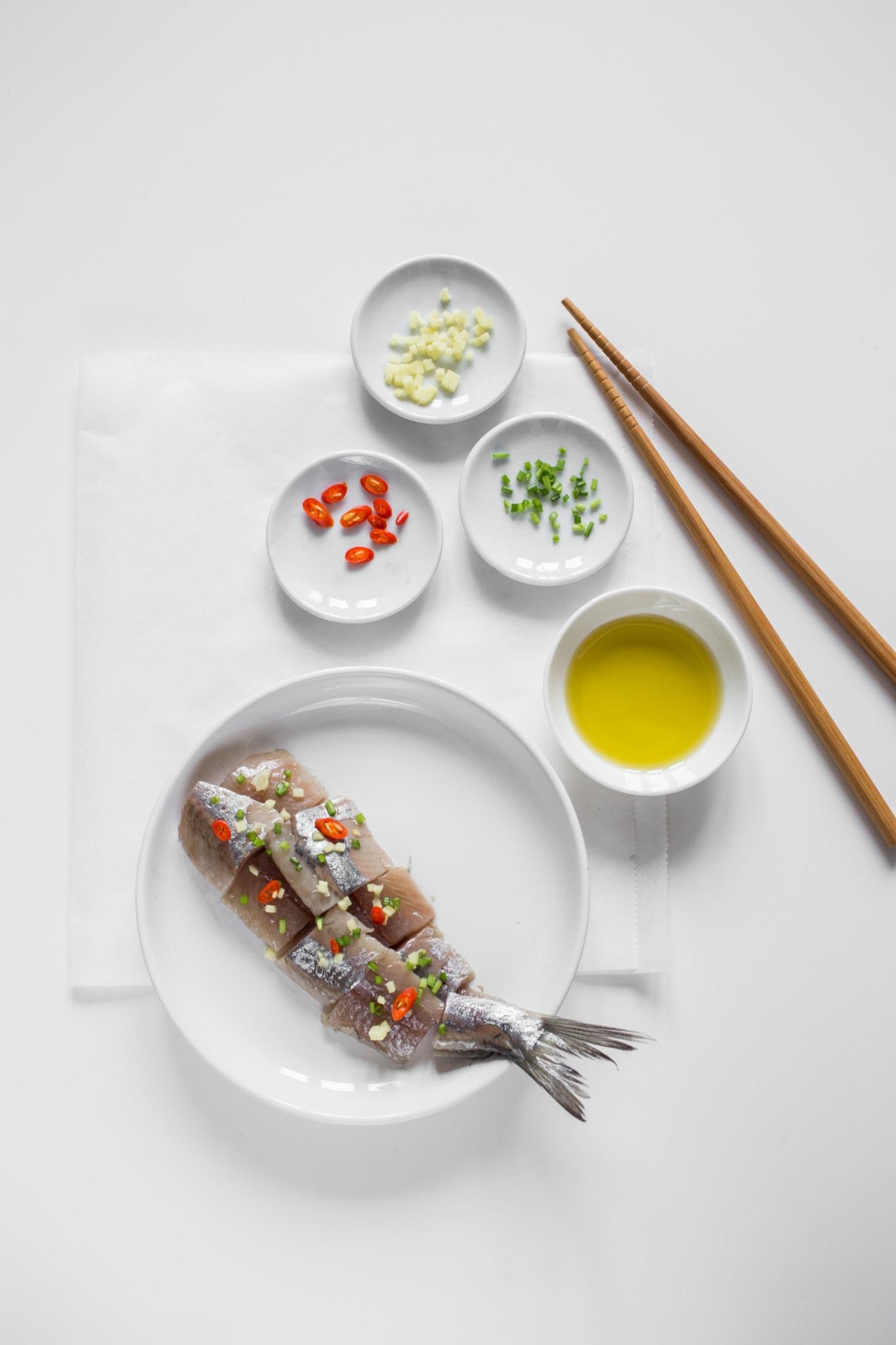 culinessa HollandseNieuwe stijl - Recept haring met een Asian twist
