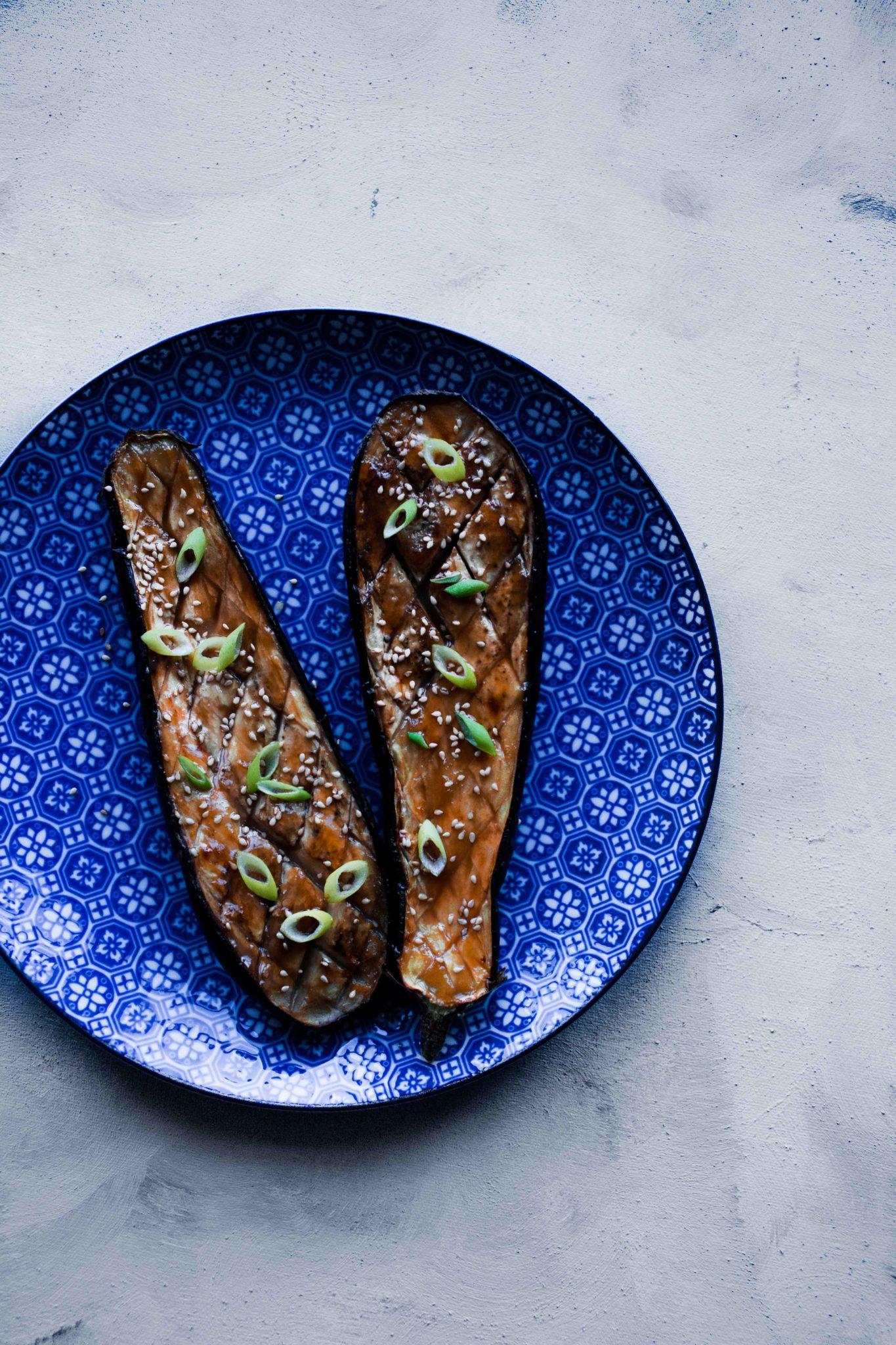 miso aubergine recept