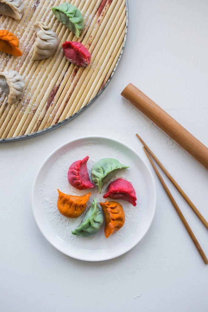 rainbow dumplings