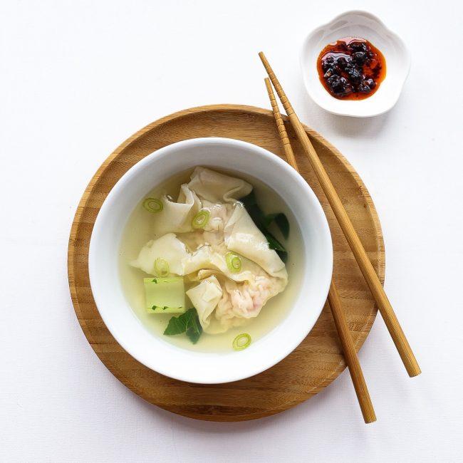 Recept Wonton soep met garnalen