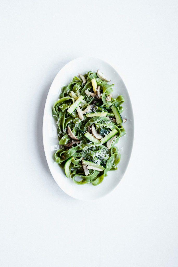 spinazie tagliatelle met courgette