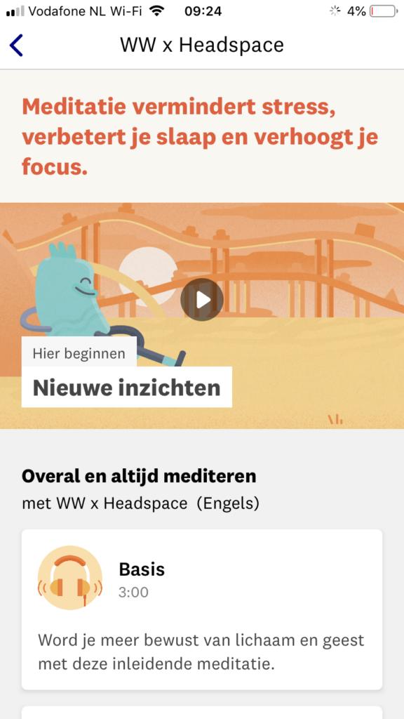 ww headspace screenshot