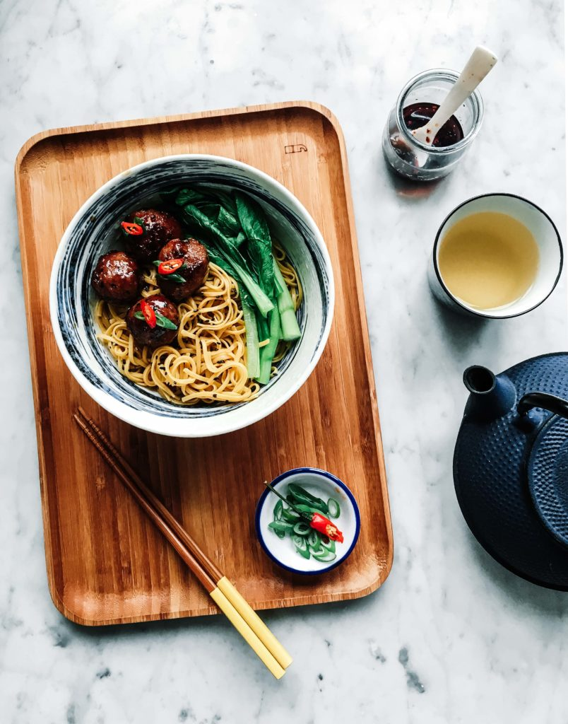 asian noodles with bok choy and meatballs 1 804x1024 - Portfolio