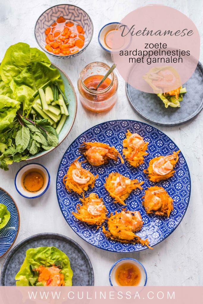 zoete aardappelnestjes met garnalen 683x1024 - Vietnamese zoete aardappelnestjes met garnalen - Banh Tom