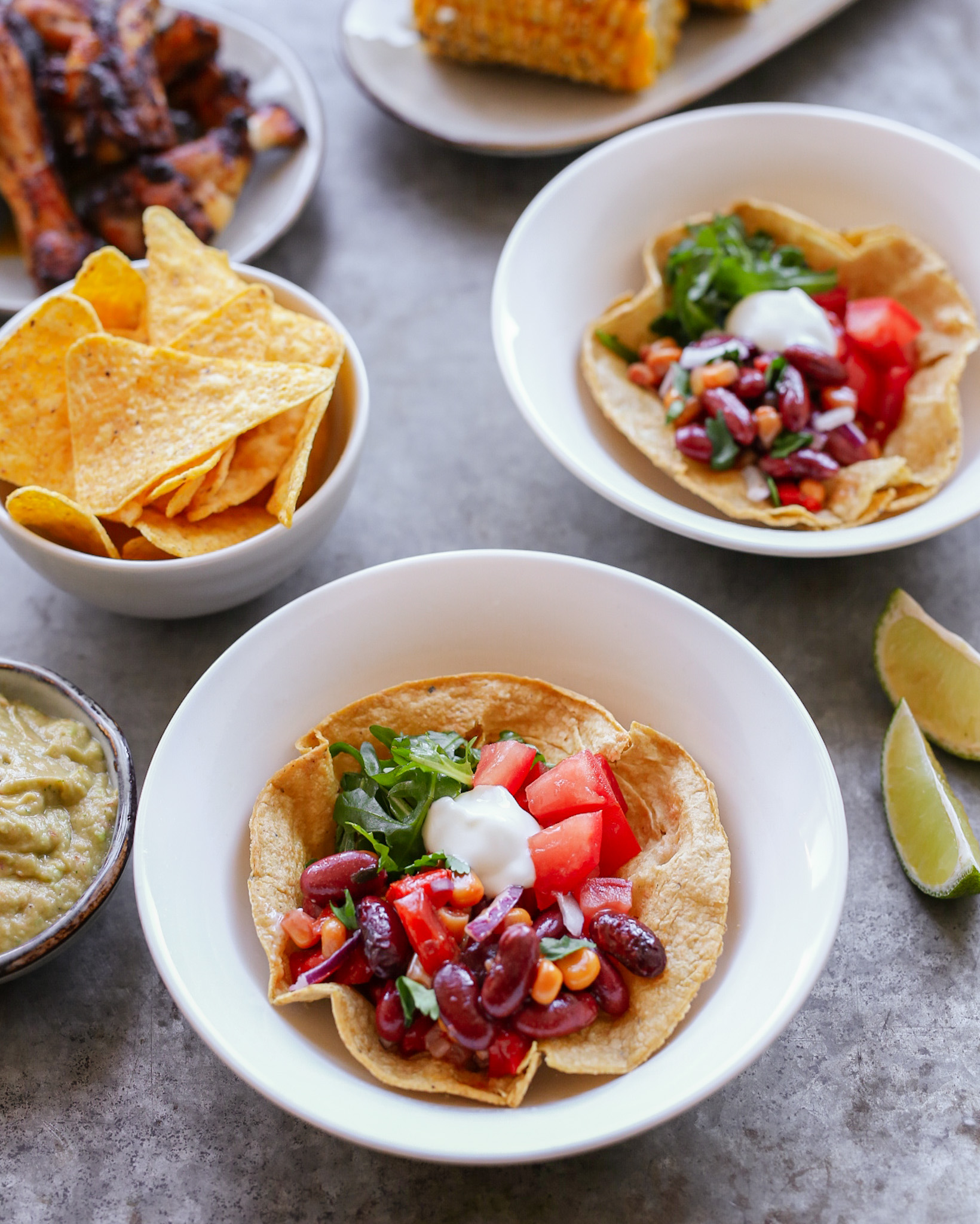 tortilla bowls bonen