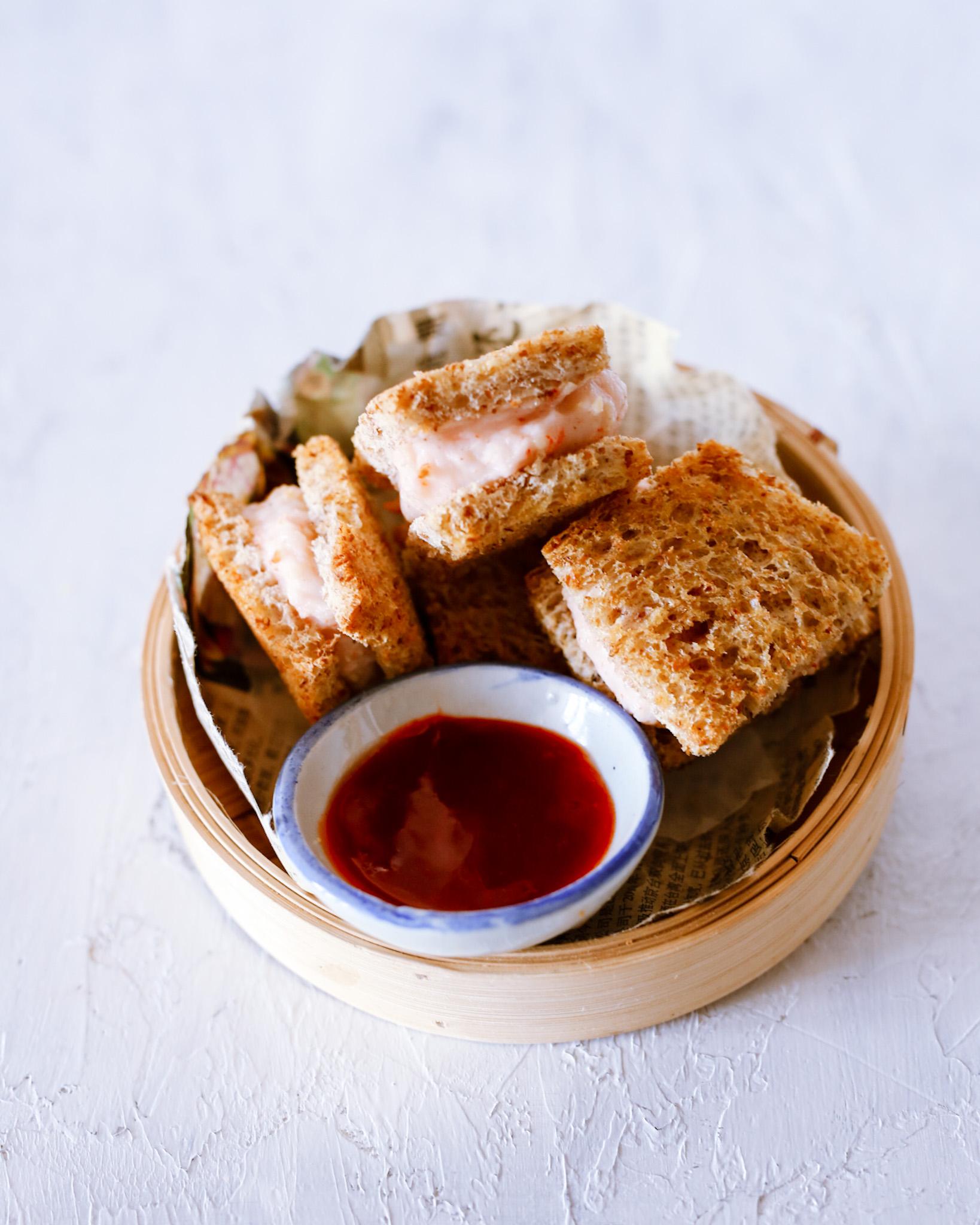 garnalen toast airfryer