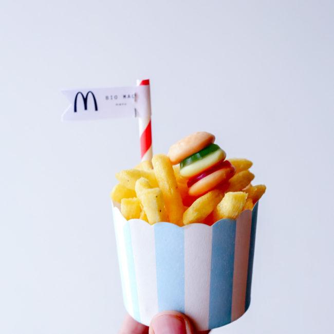 Kindertraktatie frietjes – Bic Mac menu