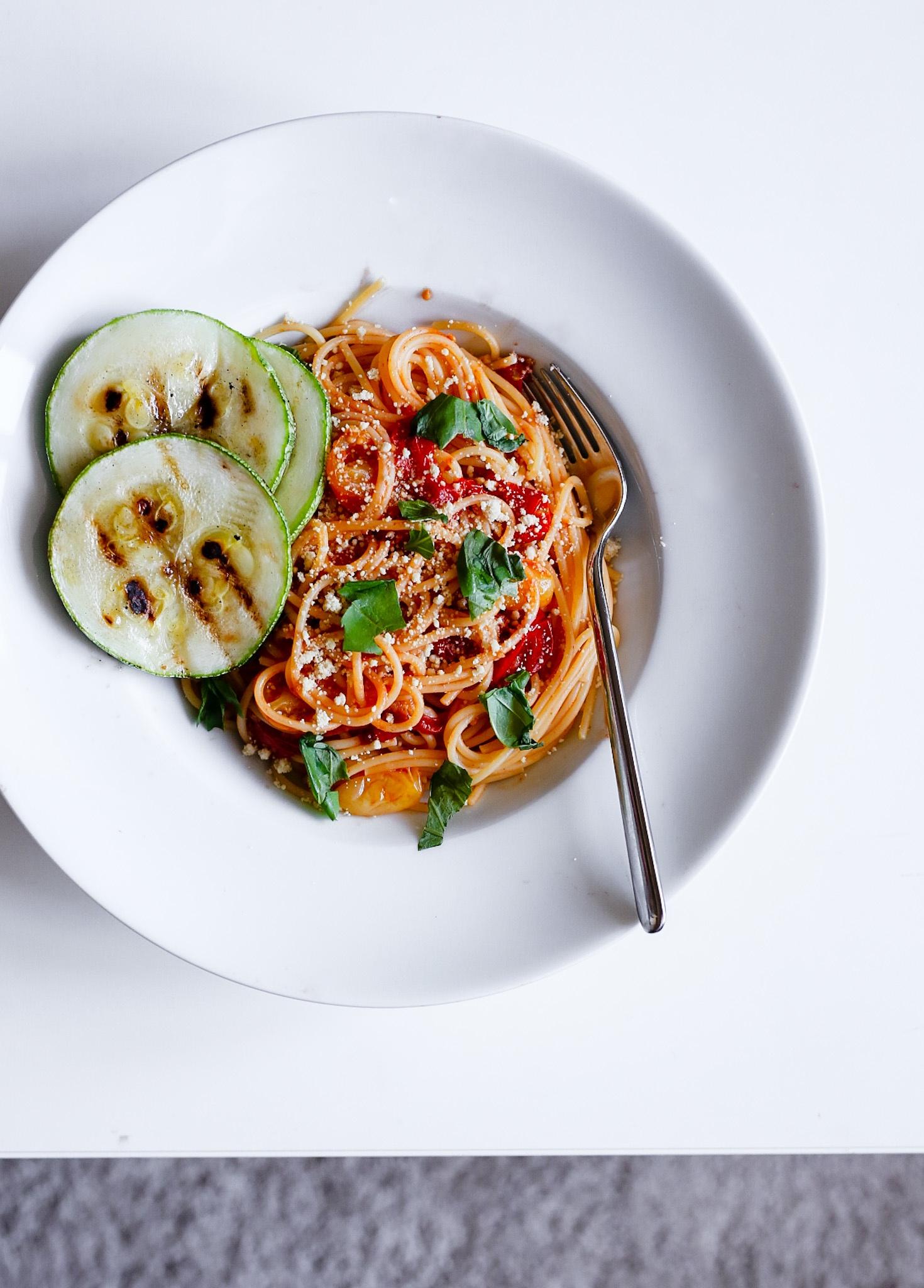 snelle pasta tomaten