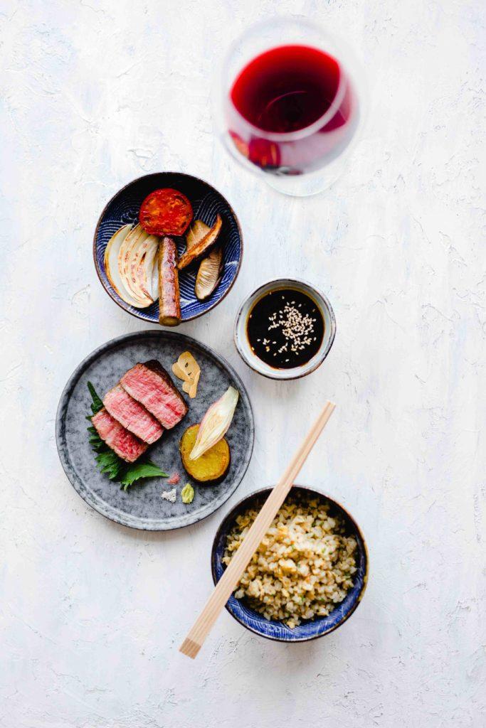 okura at home wagyu beef 4 683x1024 - Okura at home - Wagyu beef met gegrilde Japanse groenten en gebakken rijst