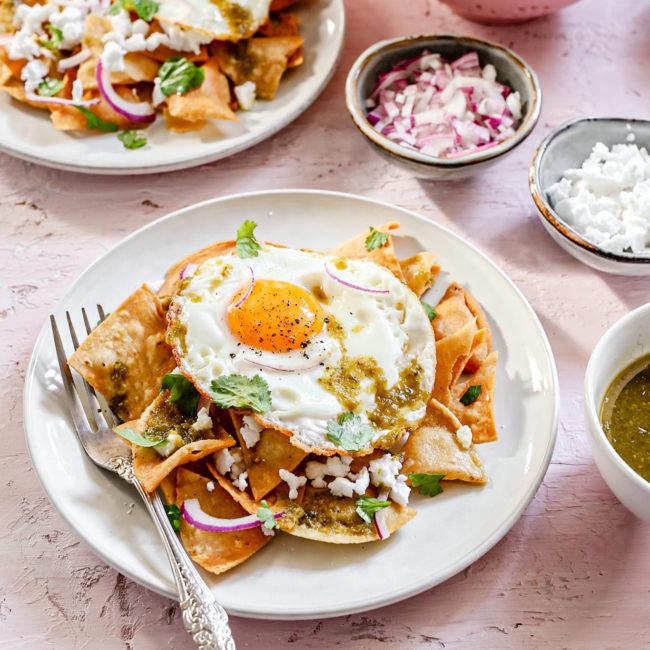Chilaquiles verdes – Mexicaans ontbijt