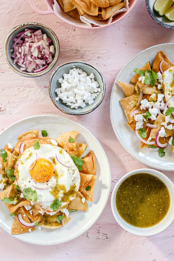 IMG 7651 683x1024 - Chilaquiles verdes - Mexicaans ontbijt