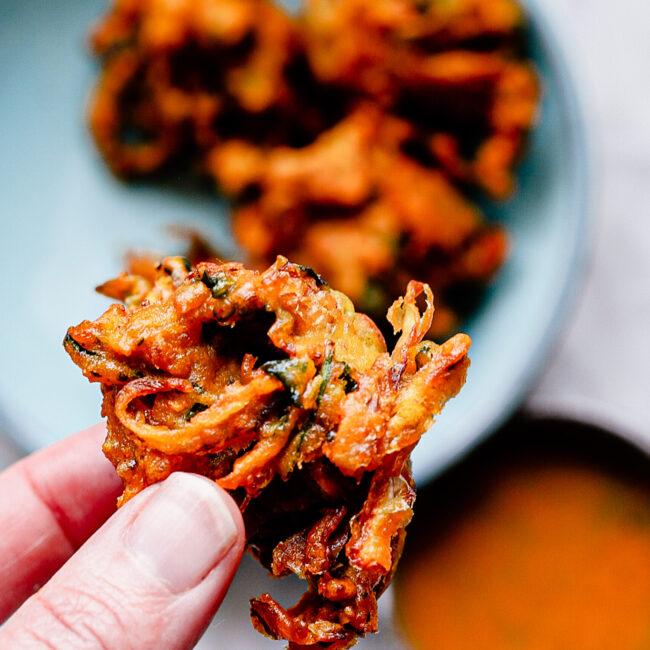 Rode Uien Bhaji – Onion bhaji