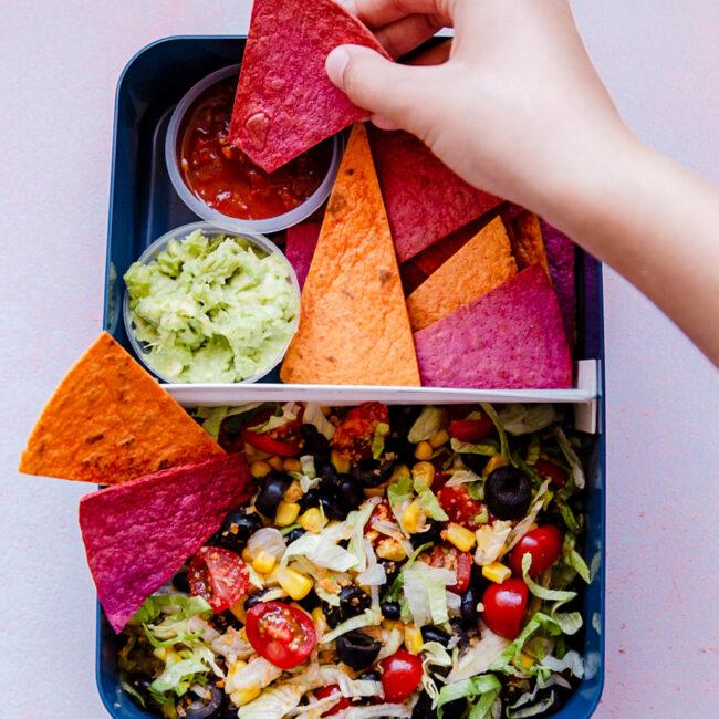 Tex Mex salade met tortilla chips